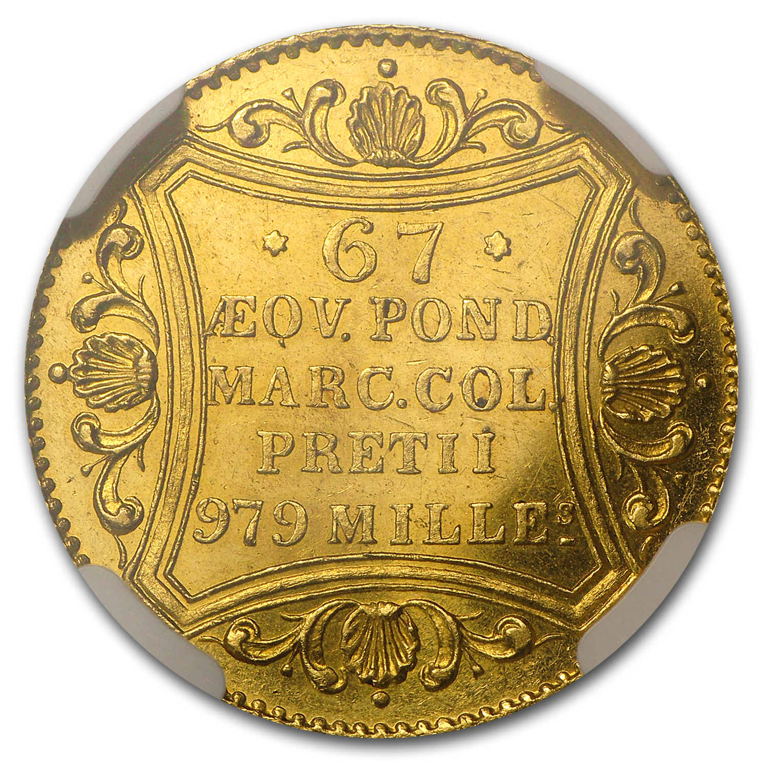 Hamburg 1861 Gold Ducat MS-62 NGC
