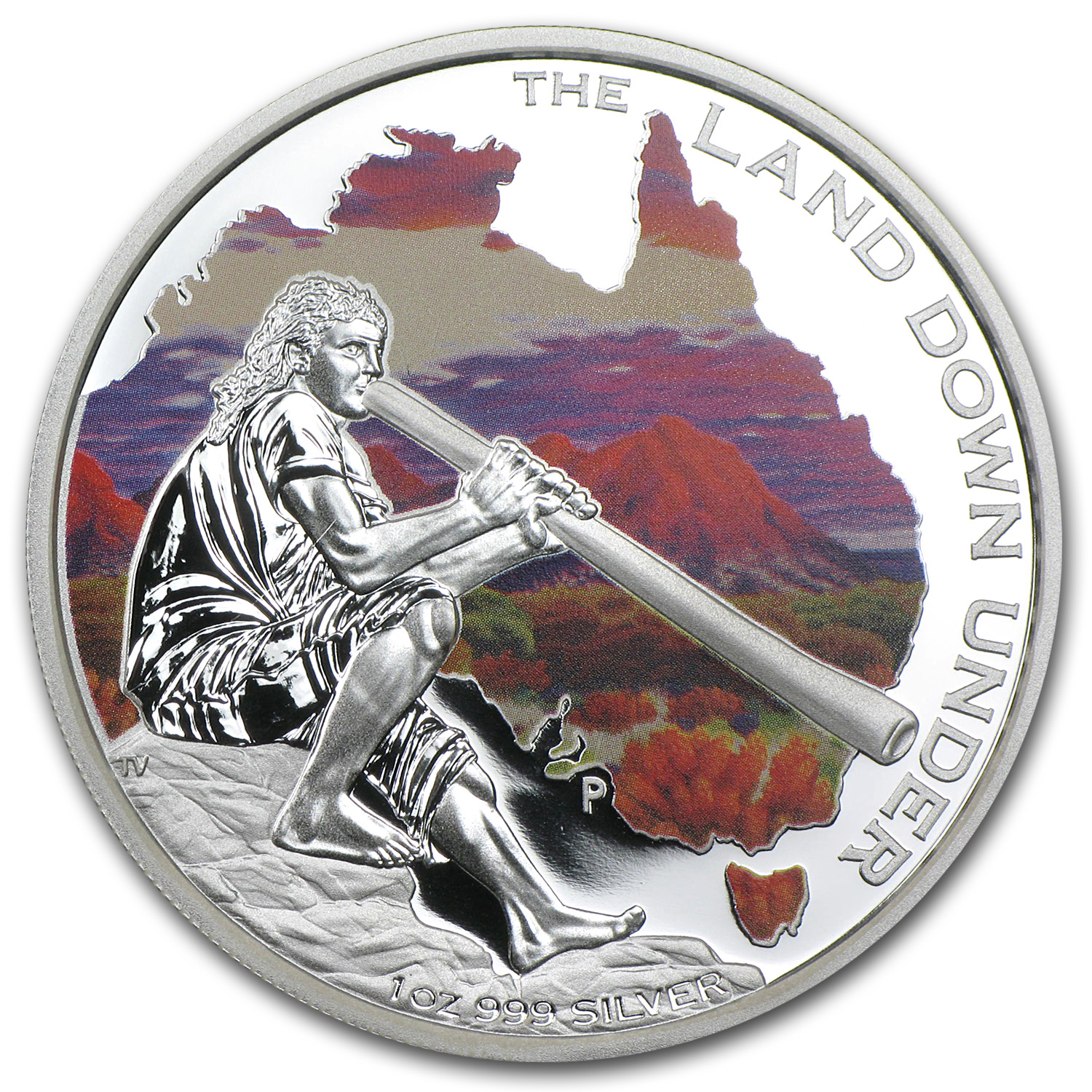 2013 1 oz Silver Australian The Land Down Under Prf (Didgeridoo)