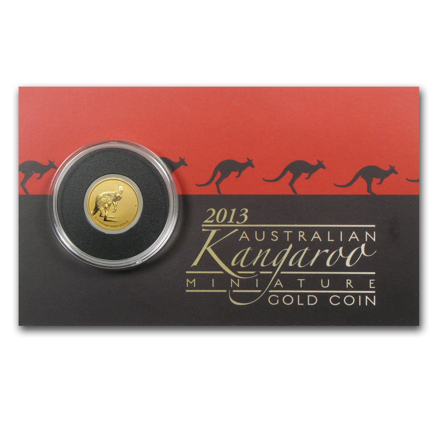 2013 Australia 1/2 Gram Gold Kangaroo Mini Roo BU (Assay Card)