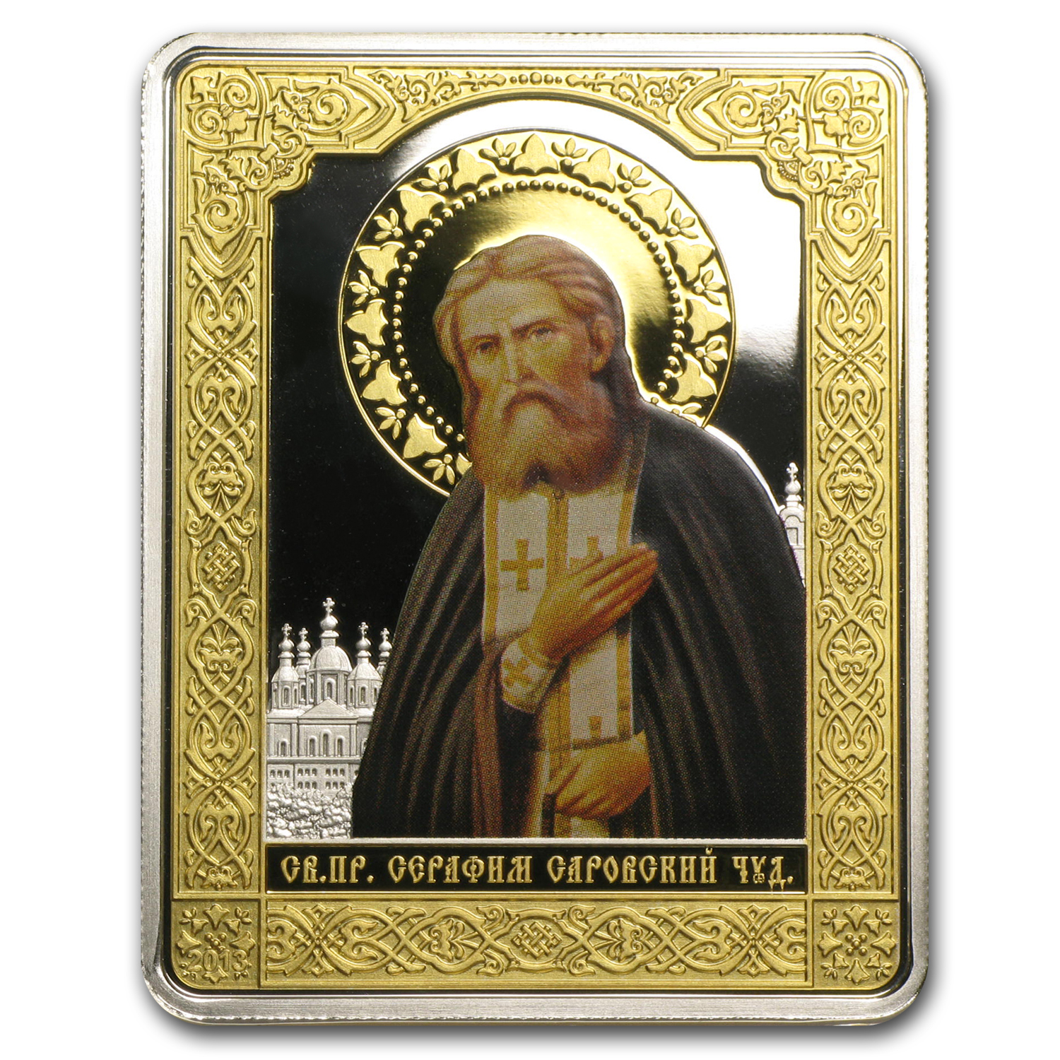 2013 Cook Islands $5 Russian Icon Saint Seraphim of Sarovsky