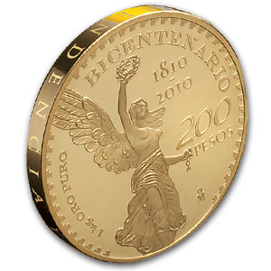 2010 Mexico Gold 1 kilo 200 Pesos Mexican Bicentenario Proof