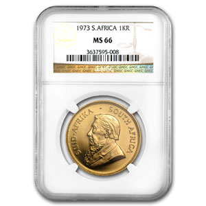 1973 1 oz Gold South African Krugerrand MS-66 NGC