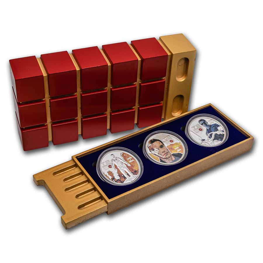 2011 Cook Islands 3-Coin Silver Terminator T2 Judgement Day Set