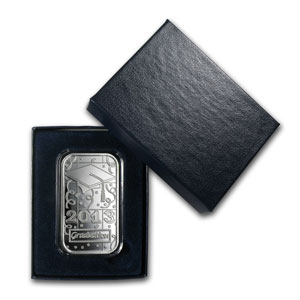 2013 1 oz Graduation Silver Bar (w/Gift Box & Capsule)