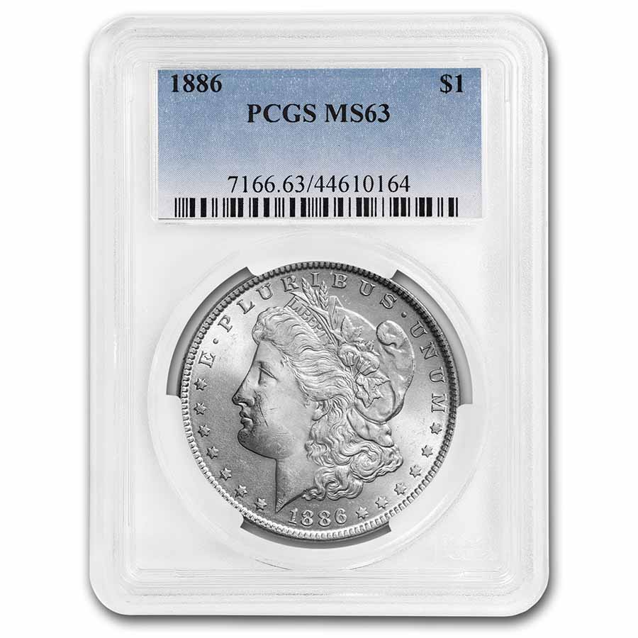 1886 Morgan Dollar - MS-63 PCGS