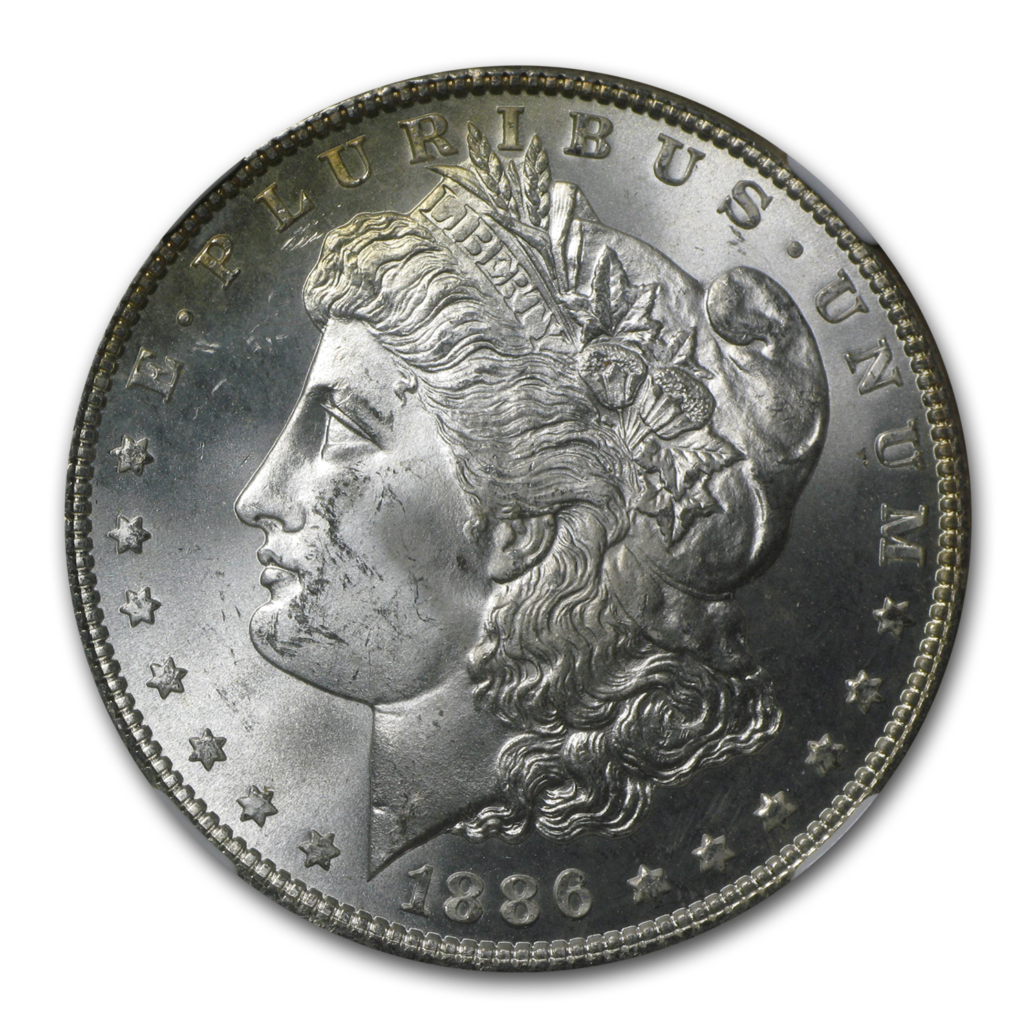 1886 Morgan Dollar MS-64 NGC