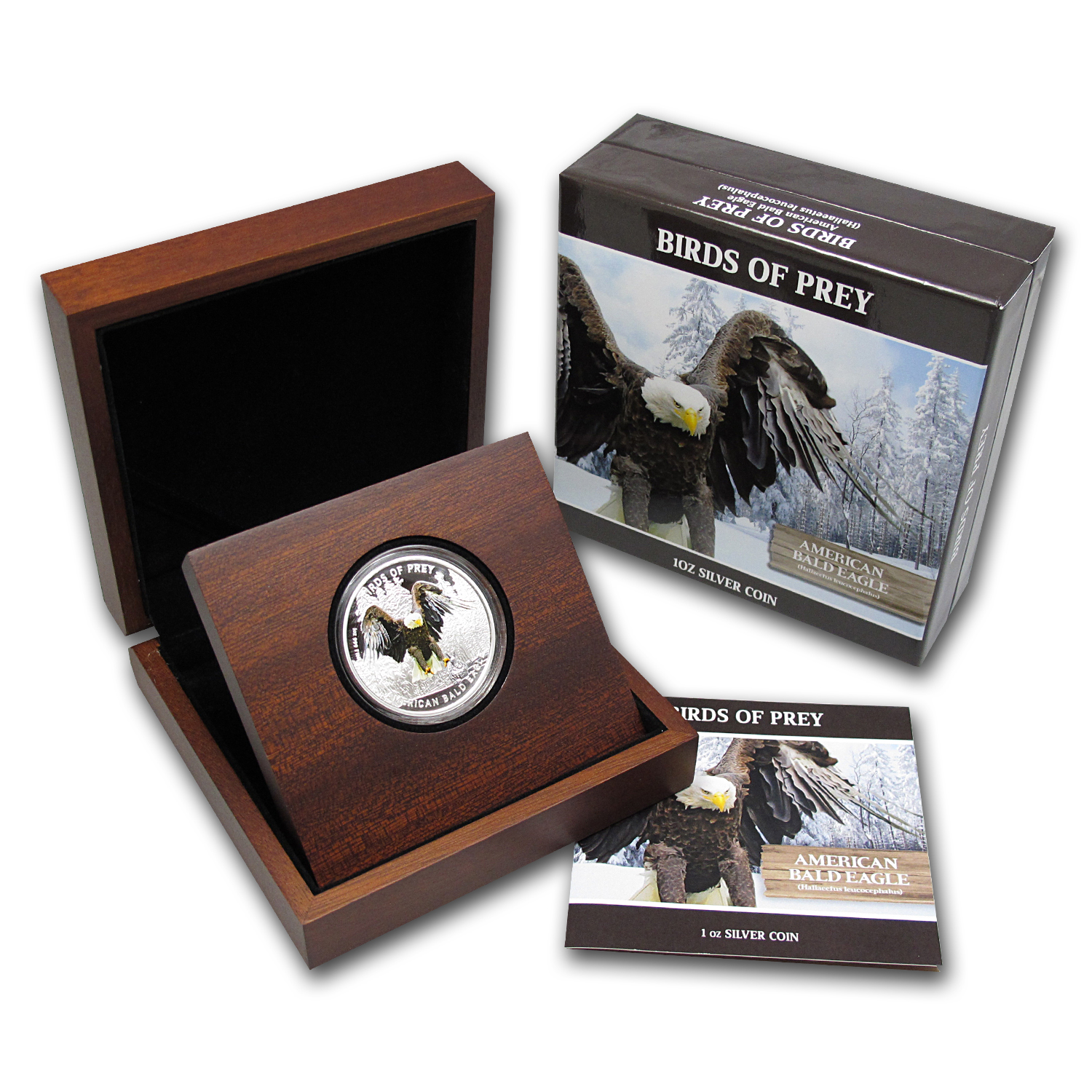 2013 1 oz Silver Niue Birds of Prey - American Bald Eagle