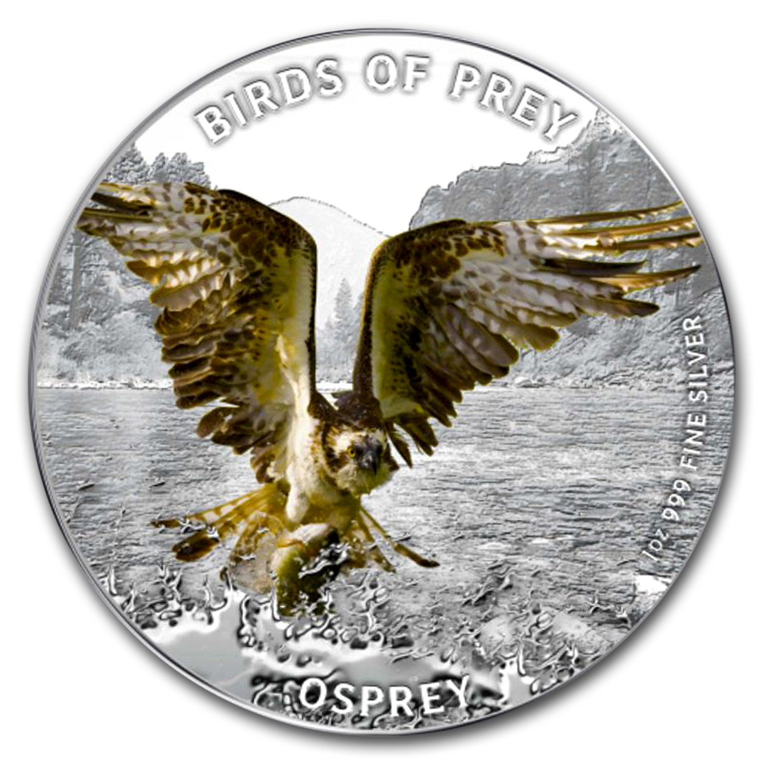 2013 1 oz Silver Niue $2 Osprey Proof