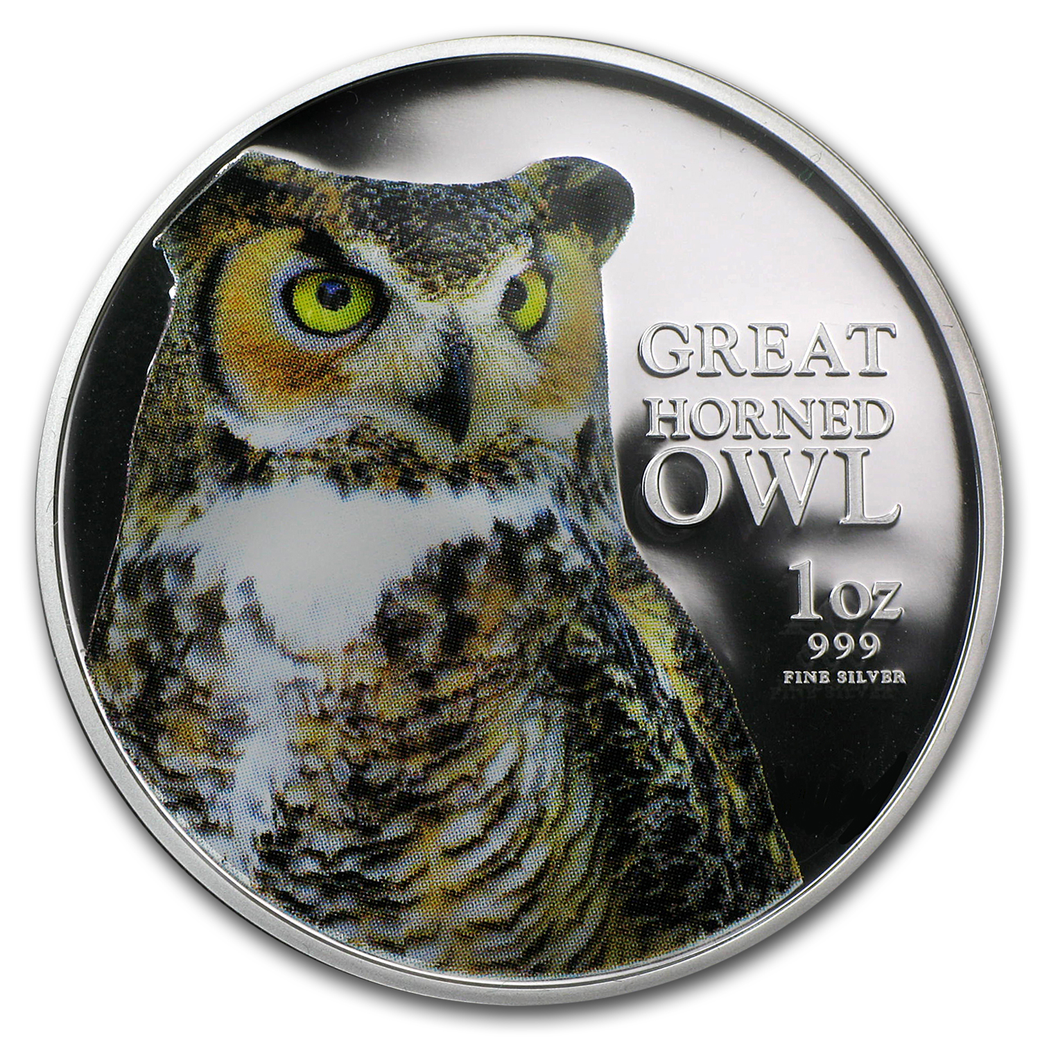 2013 Niue 1 oz Silver $2 Great Horned Owl Proof