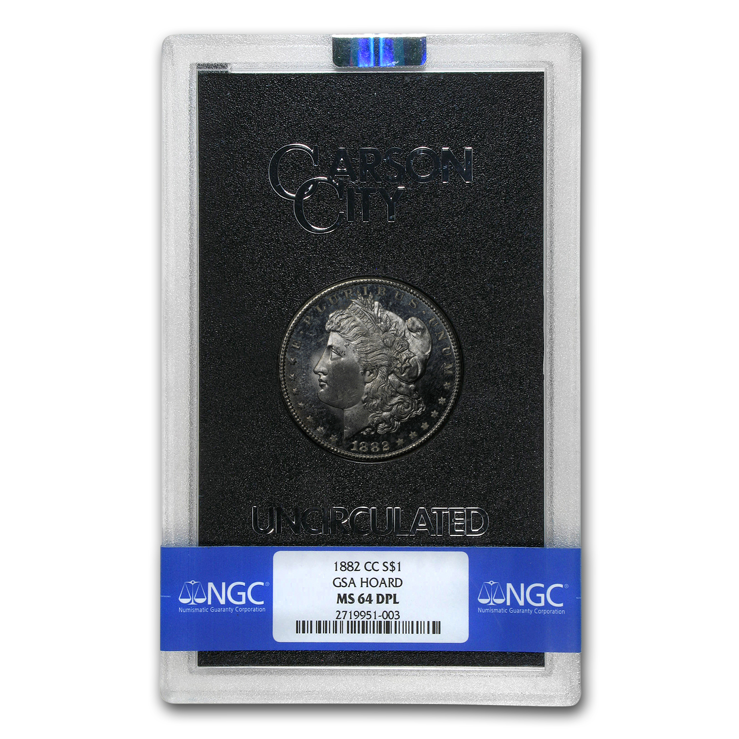 1882-CC Morgan Dollar MS-64 DPL NGC (GSA)