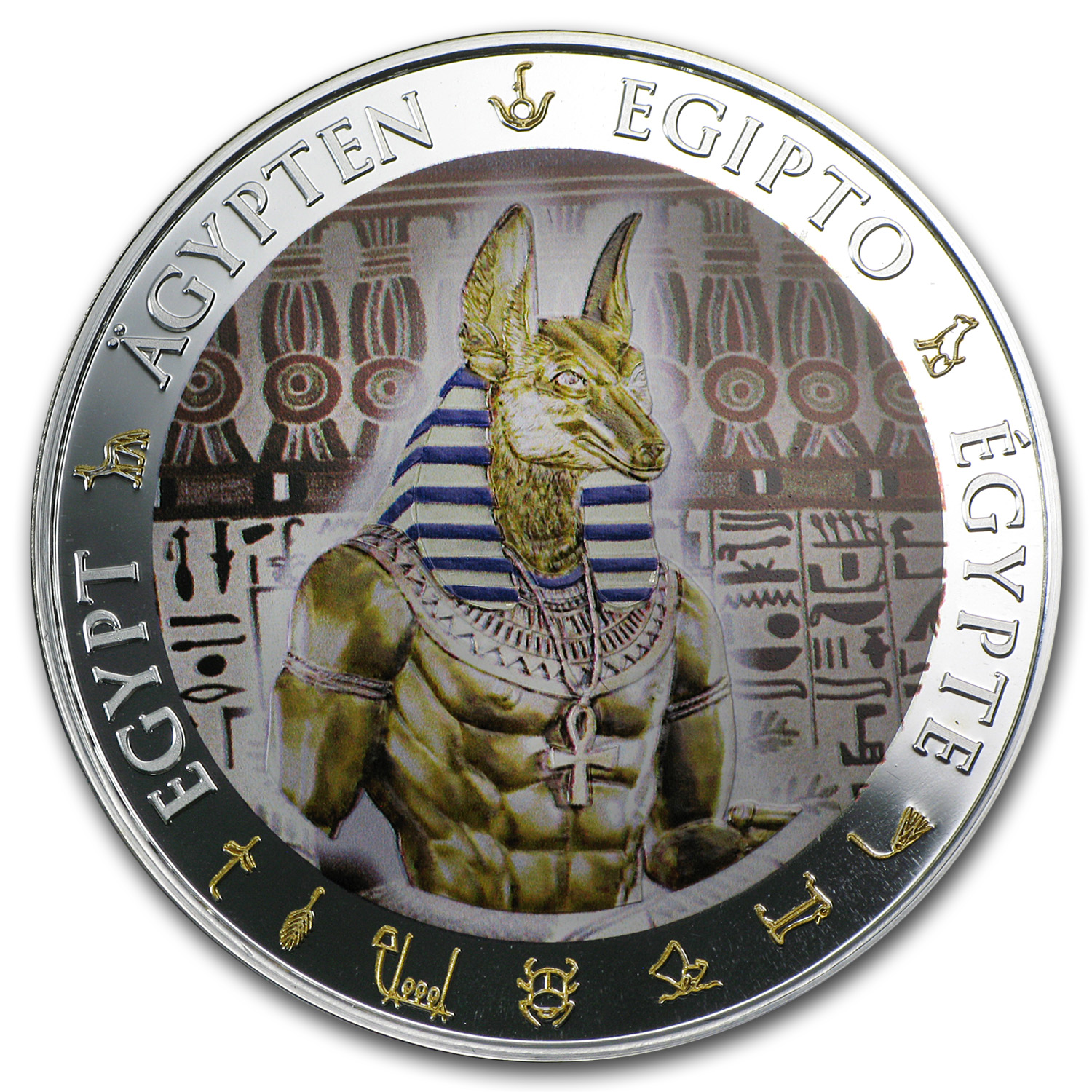 2012 Fiji Proof Silver $1 Egypt Anubis