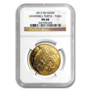 2013 Fiji 1 oz Gold $200 Taku MS-68 NGC