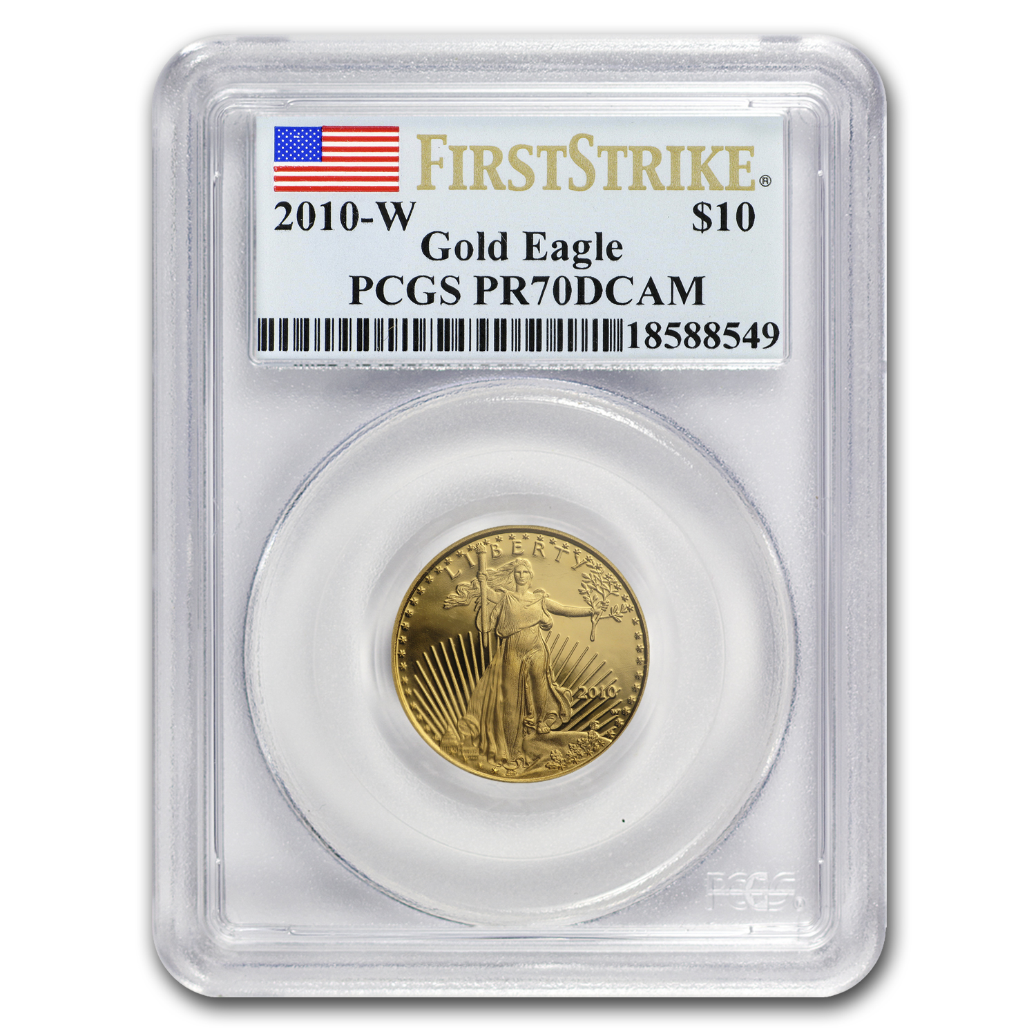 2010-W 1/4 oz Proof Gold American Eagle PR-70 PCGS (First Strike)