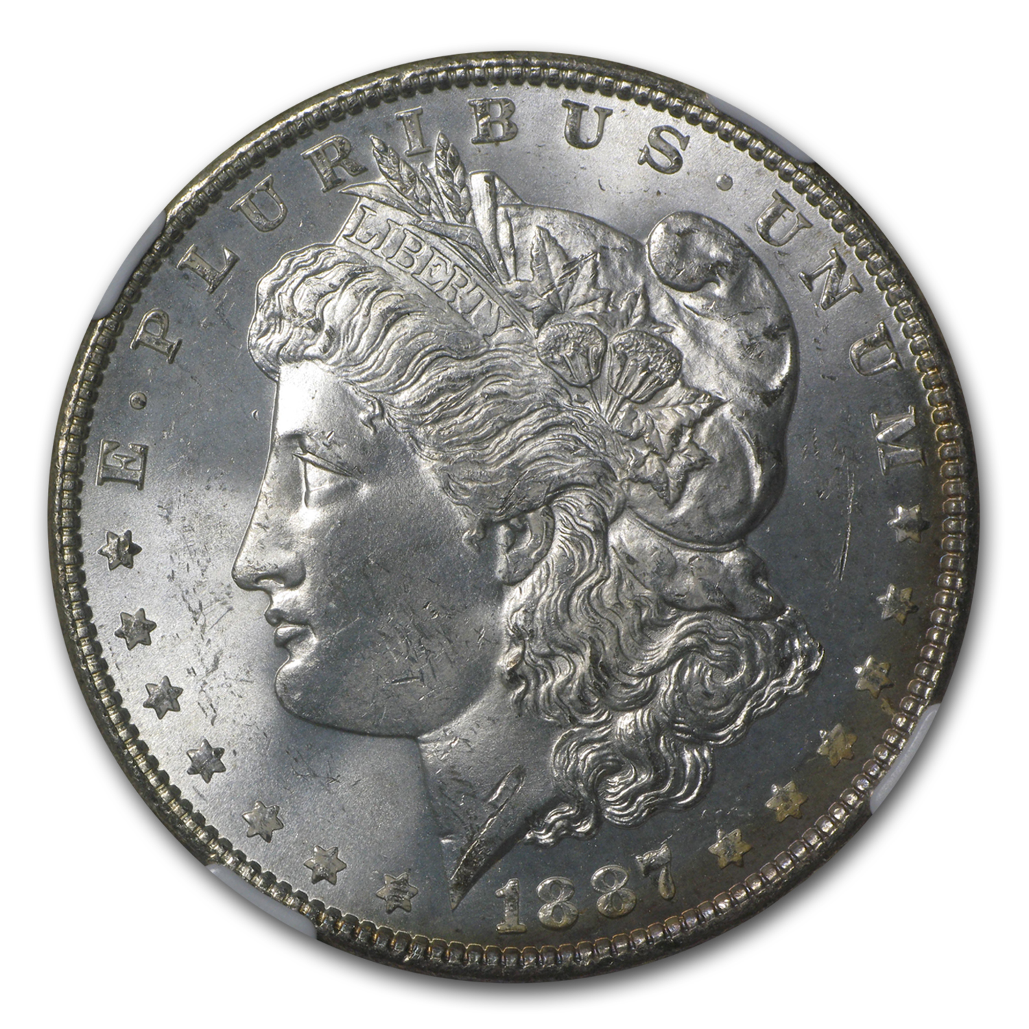 1887 Morgan Dollar - MS-65 NGC
