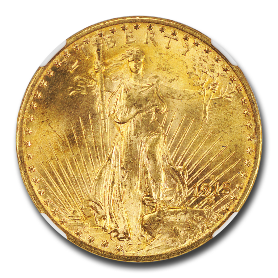 1915-S $20 St. Gaudens Gold Double Eagle MS-66 NGC