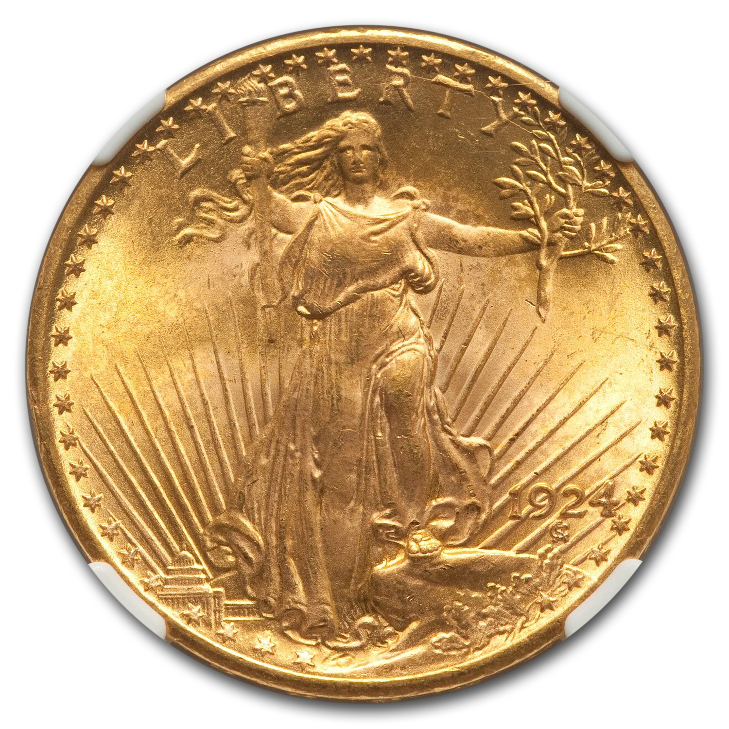 1924 $20 St. Gaudens Gold Double Eagle - MS-67 NGC