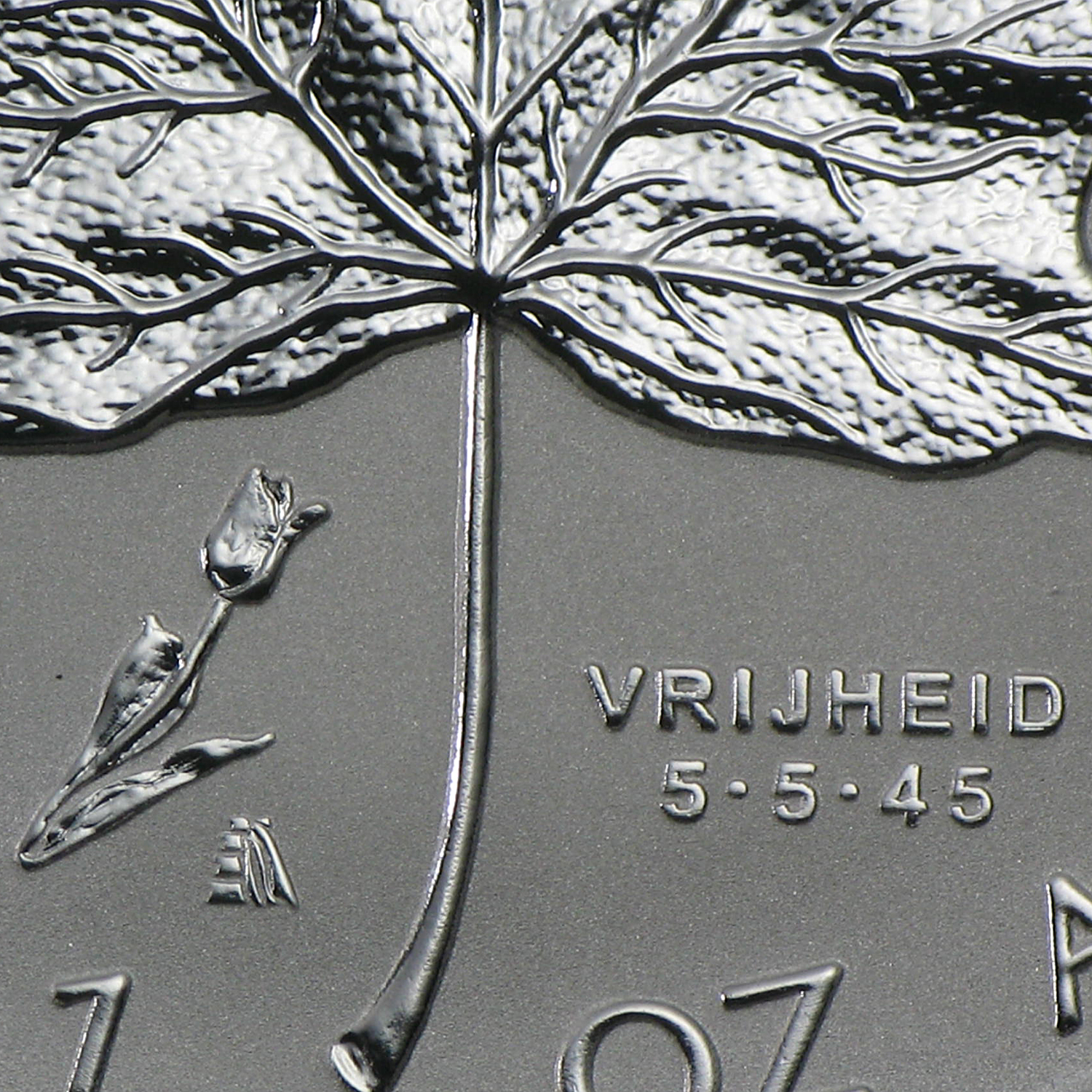 2005 1 oz Silver Canadian Maple Leaf - Freedom Tulip Privy Mark
