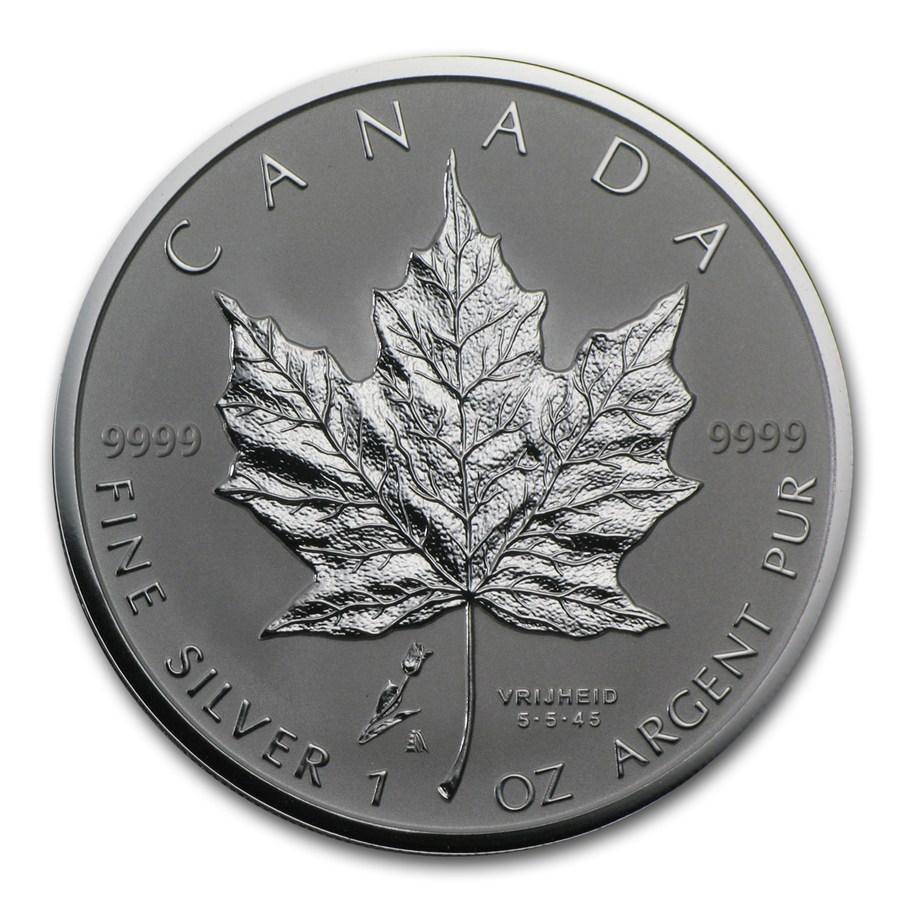 2005 Canada 1 Oz Silver Maple Leaf Freedom Tulip Privy