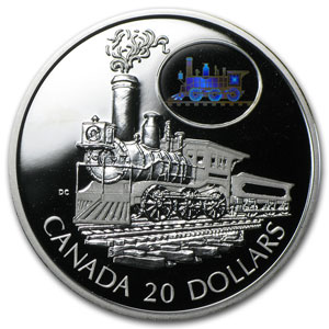 2001 Canada 1 oz Silver $20 The Scotia Train