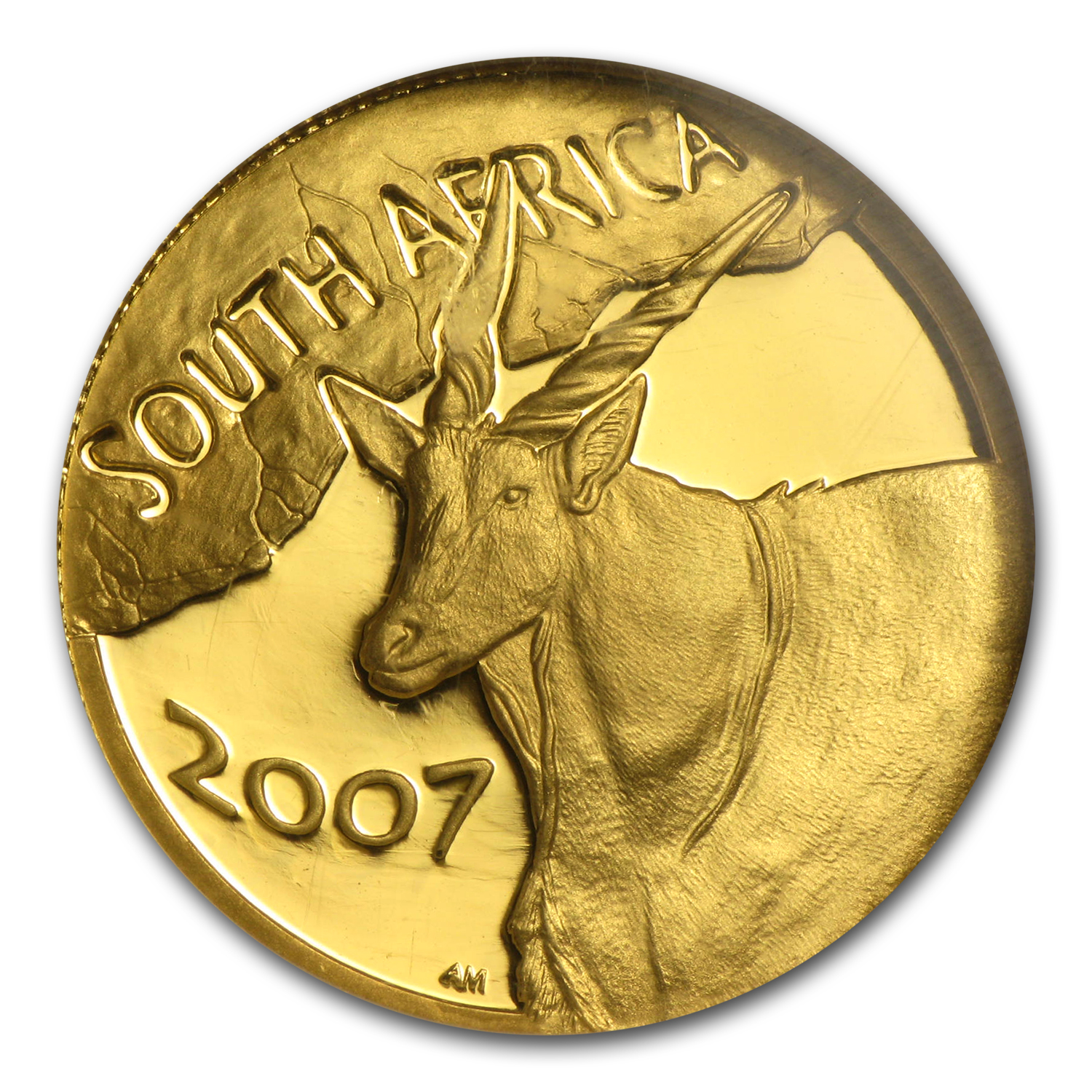 2007 South Africa 1/4 oz Gold Natura Eland PF-70 NGC