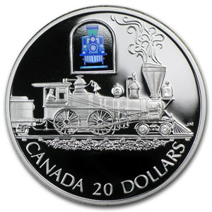 2000 Canada 1 oz Silver $20 The Toronto Locomotive