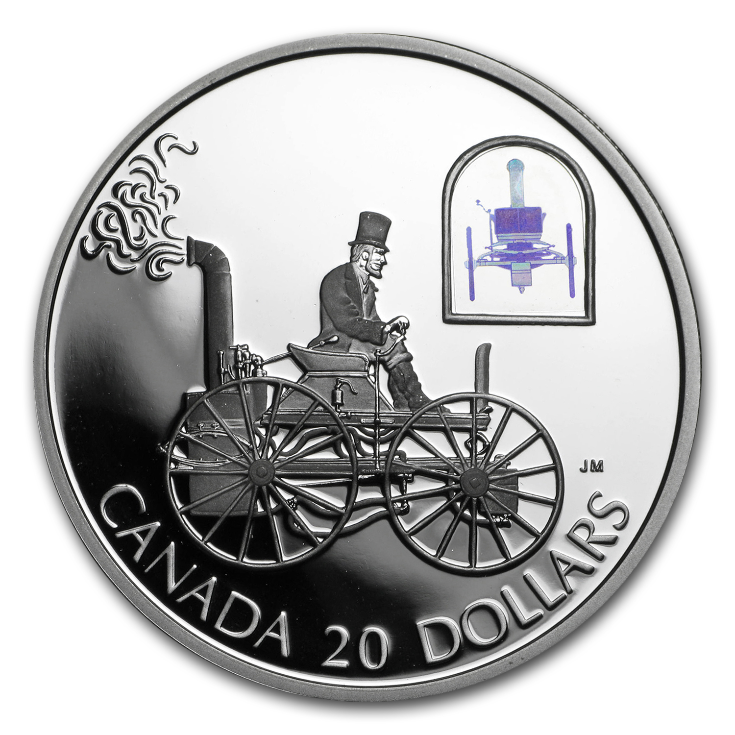 2000 Canada 1 oz Silver $20 The H.S. Taylor Steam Buggy