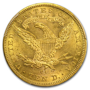 1891-CC/CC $10 Liberty Gold Eagle AU-50 PCGS