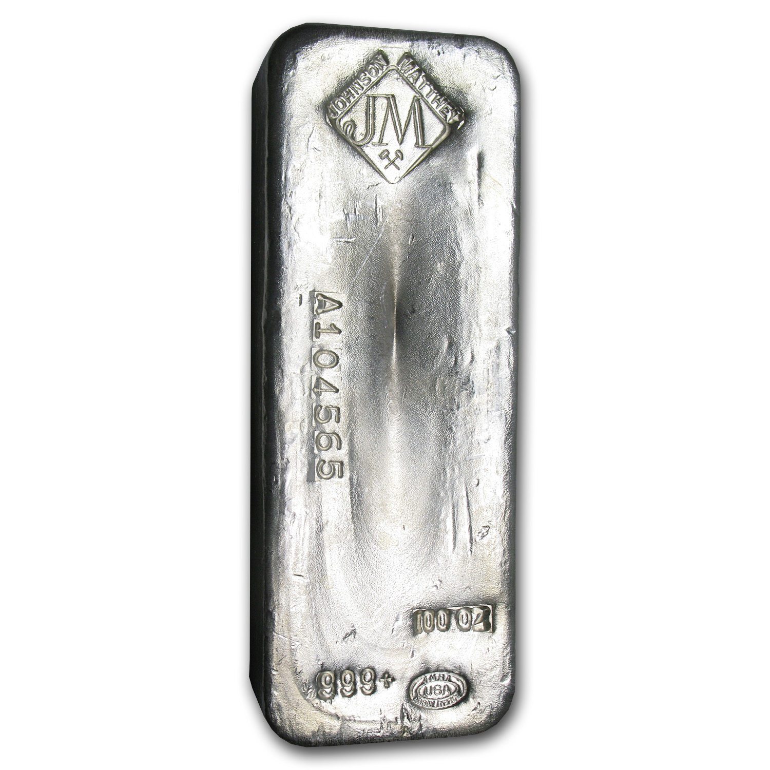 100 oz Silver Bar - Johnson Matthey (Serial #/USA)