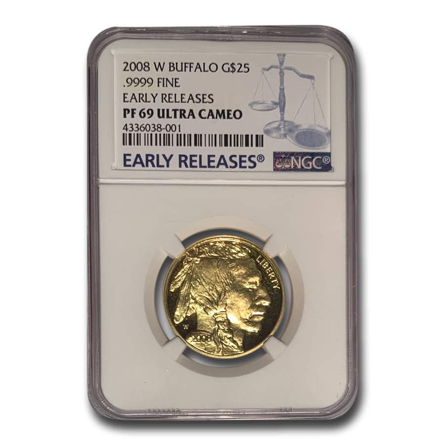 2008-W 1/2 oz Proof Gold Buffalo PF-69 NGC (ER)