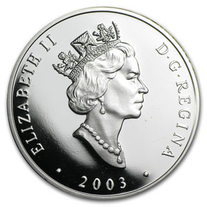 2003 1 oz Silver Canadian $20 The HMCS Bras d'or FHE-400