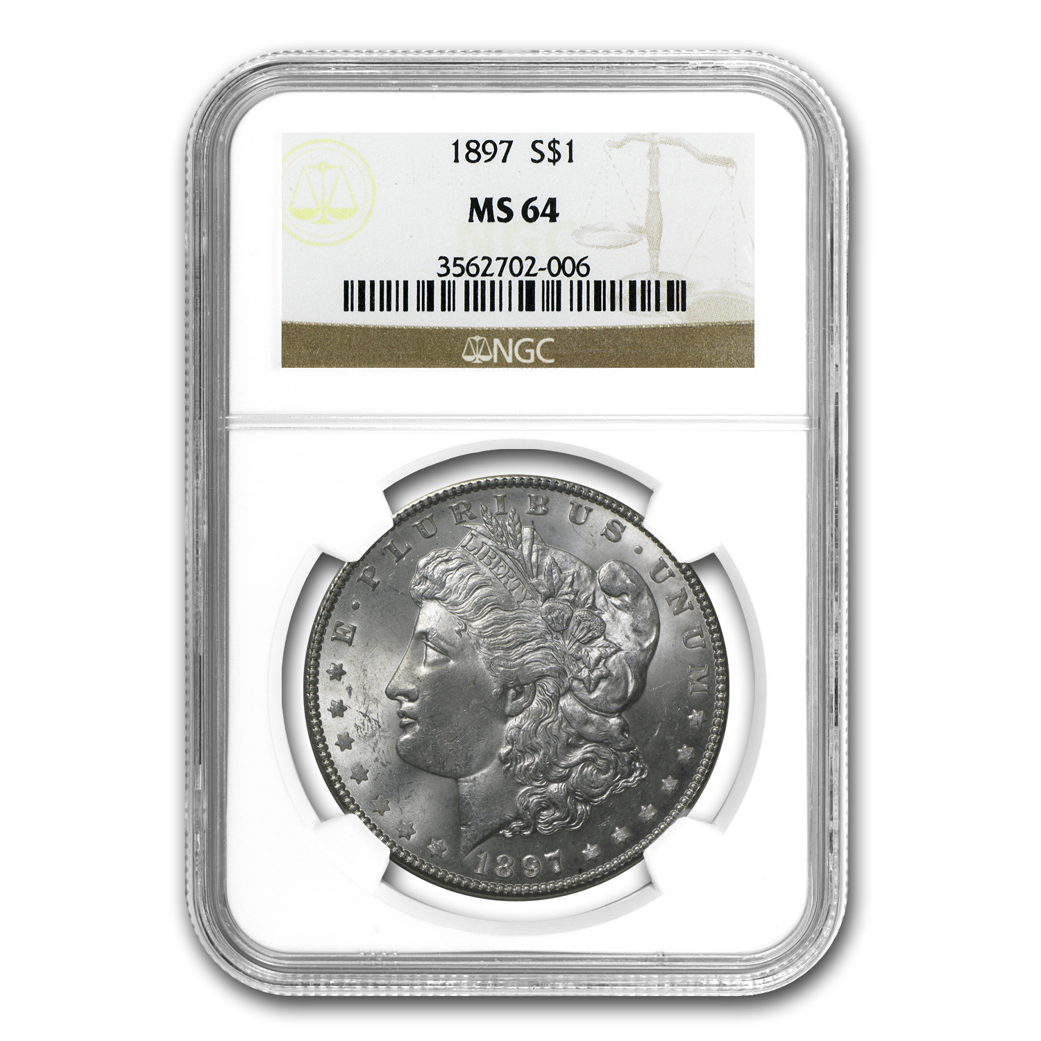 1897 Morgan Dollar MS-64 NGC
