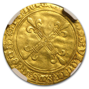 France Gold Ecu d'Or of Charles VIII (1483-1498) NGC VF-35