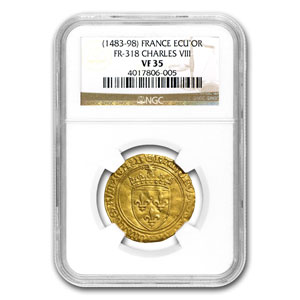 1483-1498 France Gold Ecu d'Or of Charles VIII VF-35 NGC