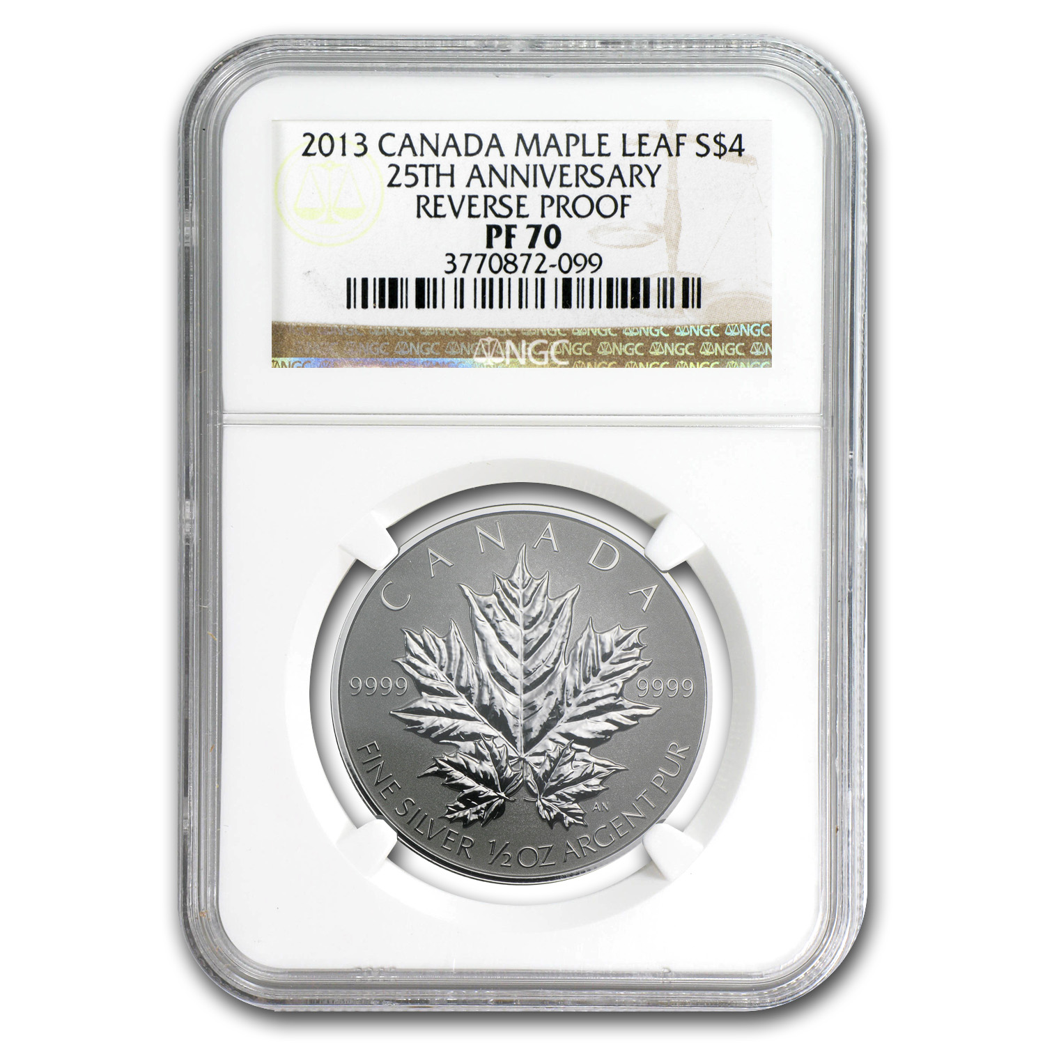 2013 Canada 5-Coin Silver Maple Leaf 25th Anniv Set PF-70 NGC