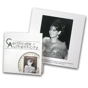 2013 Cook Islands Silver Hollywood Legends Claudia Cardinale
