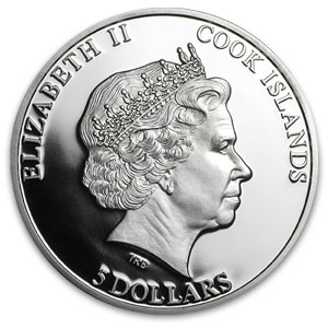 2013 Cook Islands Silver $5 Habemus Papam Franciscus