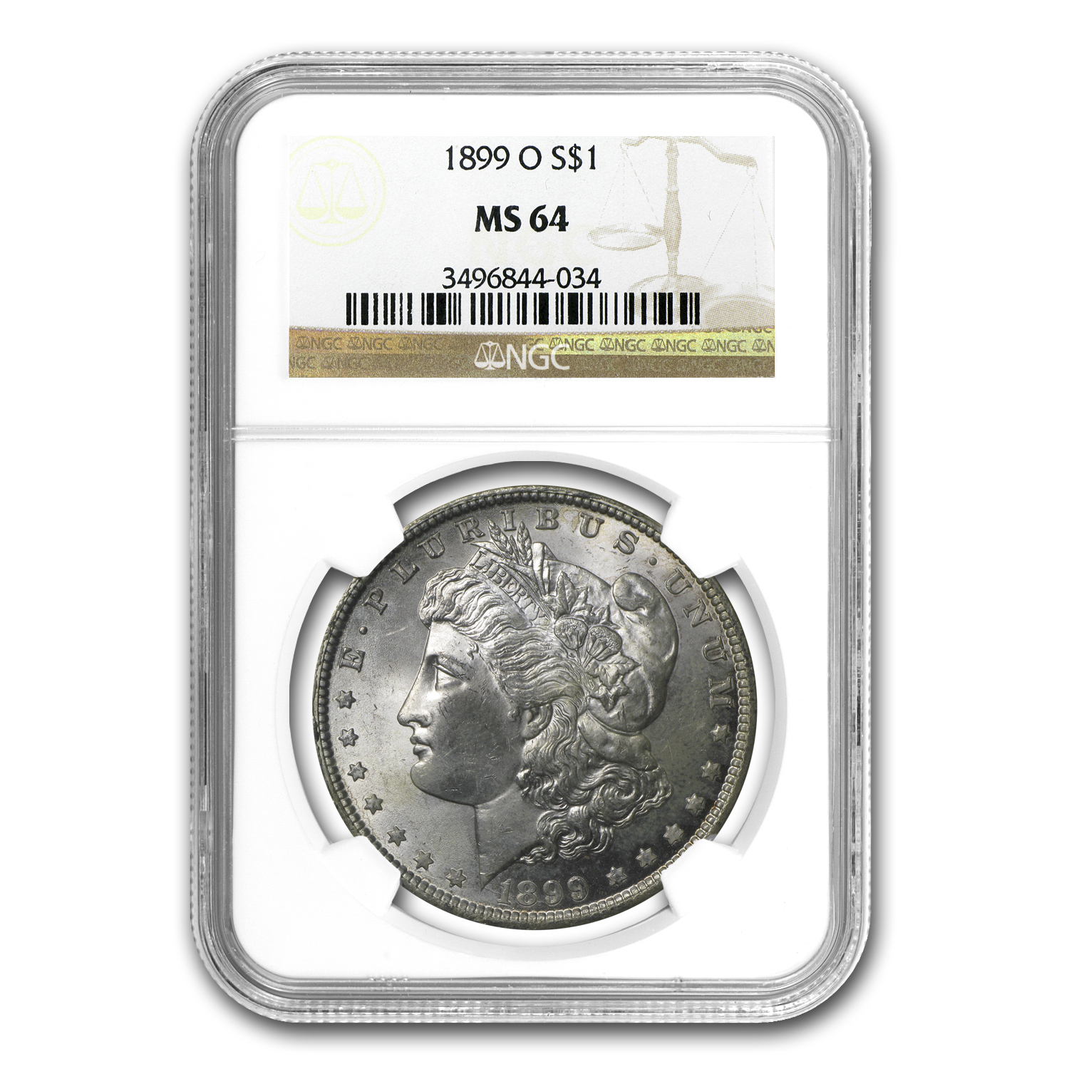 1899-O Morgan Dollar MS-64 NGC