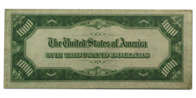 1934-A (G-Chicago) $1,000 FRN PMG About Uncirculated 50 Net)