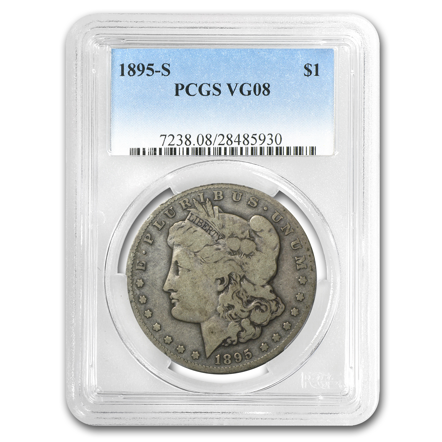 1895-S Morgan Dollar Very Good-8 PCGS