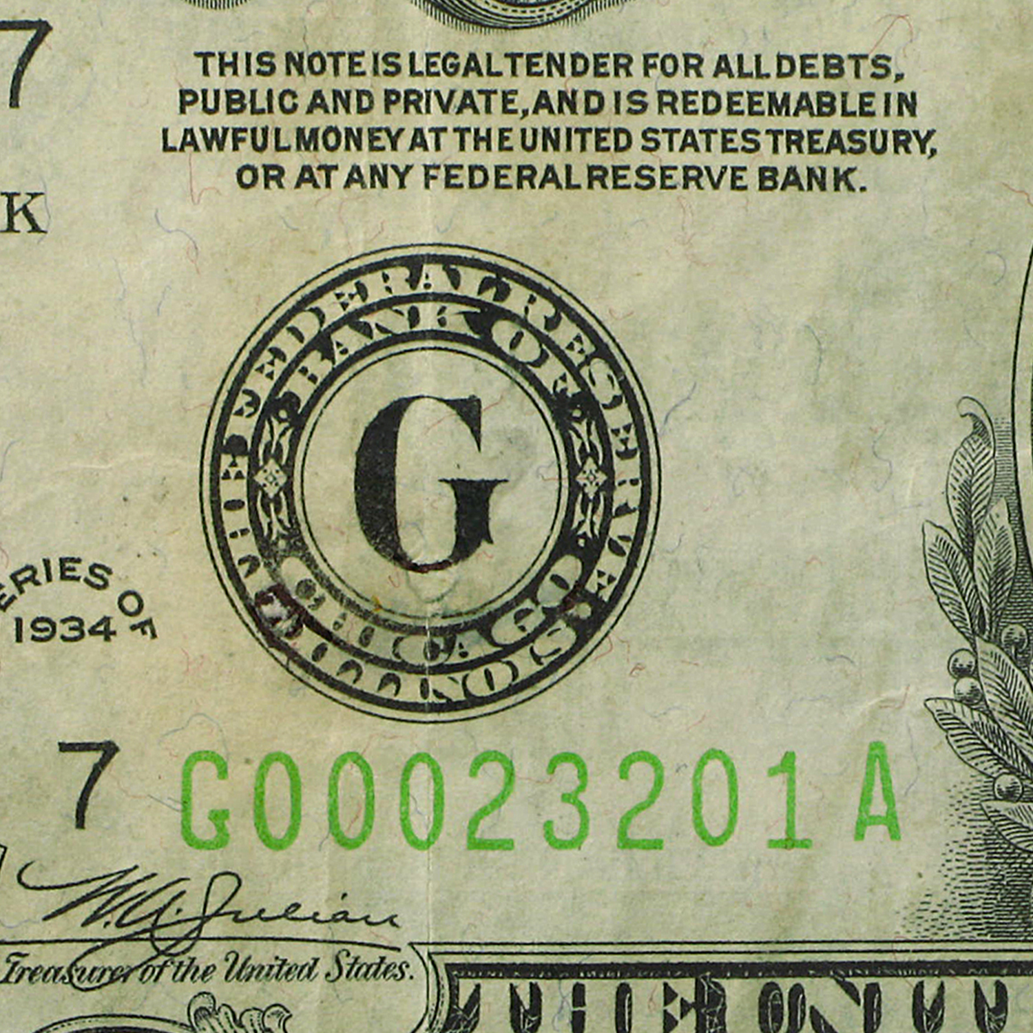 1934 (G-Chicago) $1,000 FRN XF