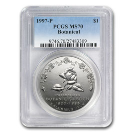 1997-P Botanical Garden $1 Silver Commem MS-70 PCGS