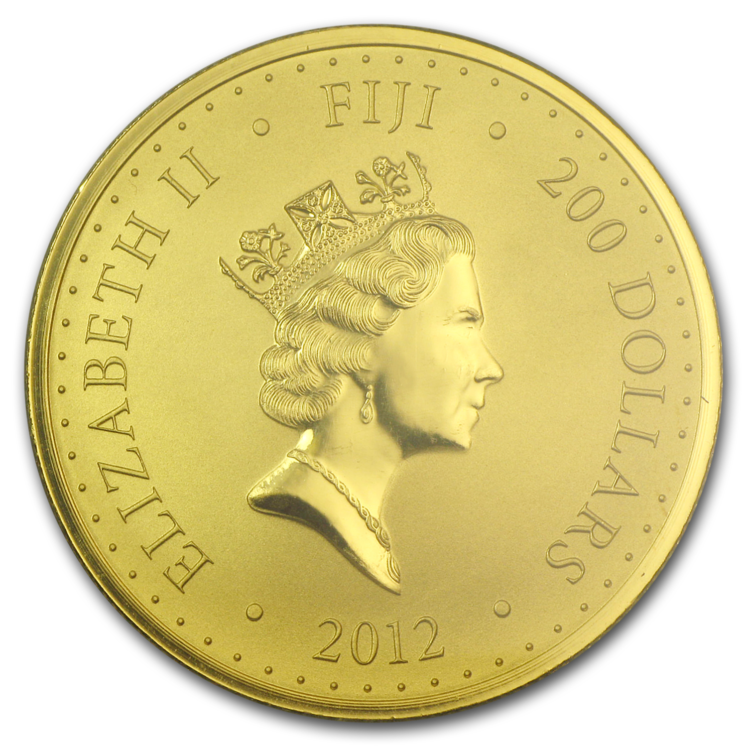 2012 Fiji 1 oz Gold $200 Pacific Sovereign BU (In Assay Card)