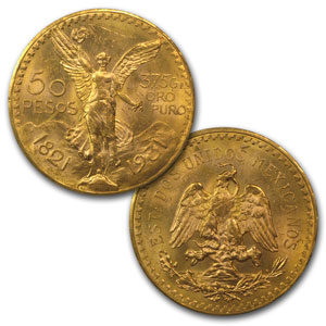 Mexican 1921-1931 11-Coin 50 Pesos Gold Set AU/BU