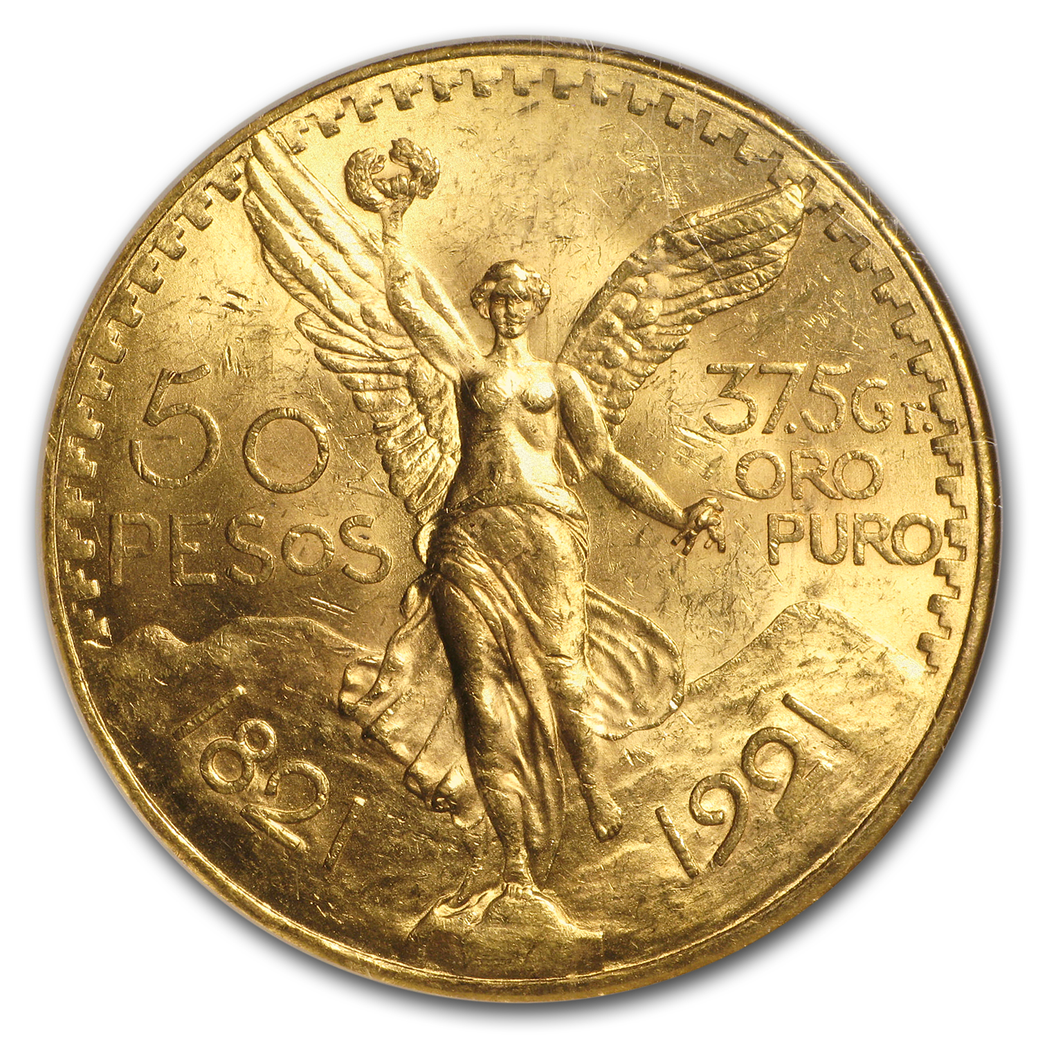 1921 Mexico Gold 50 Pesos MS-63 NGC