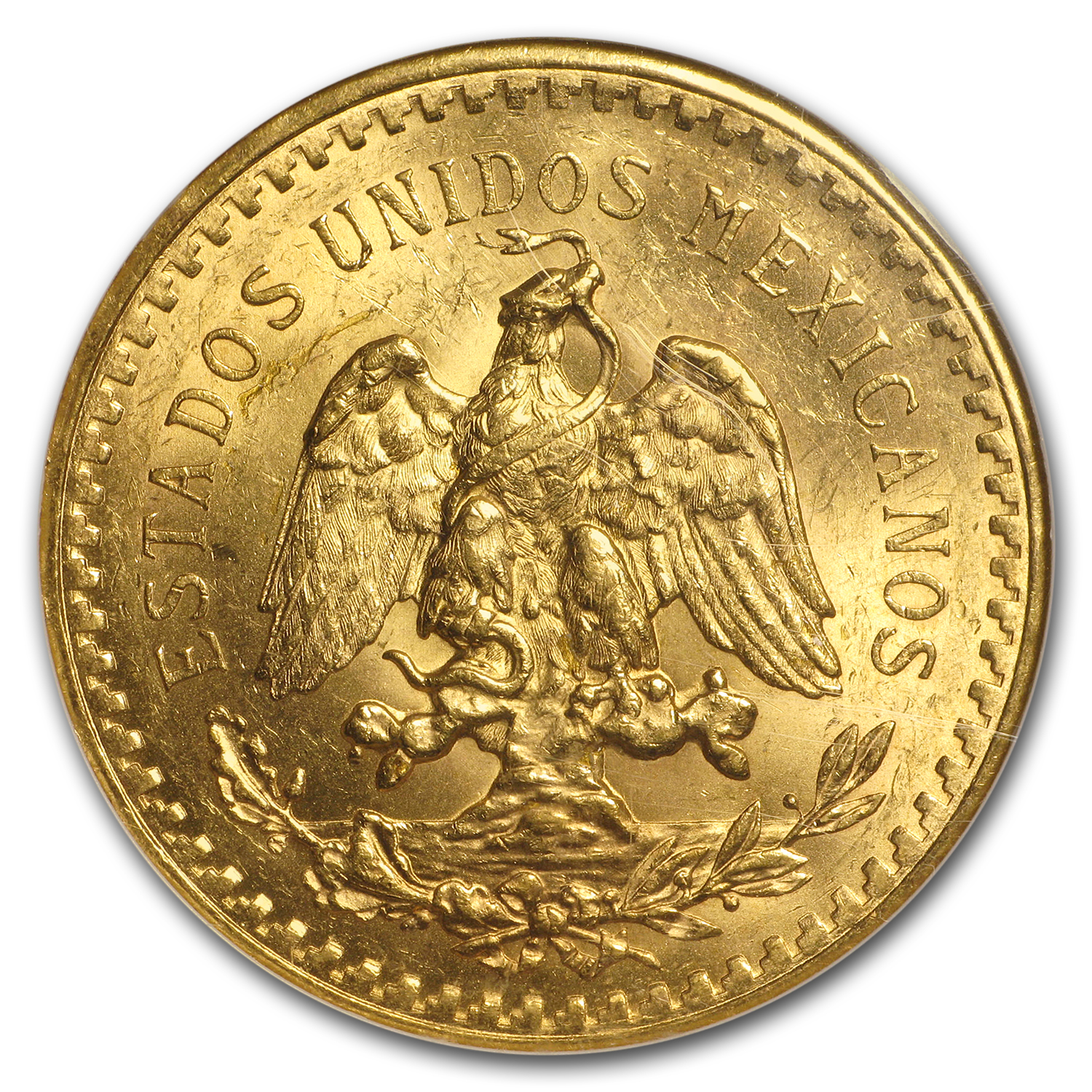 Mexico 1921 50 Pesos Gold Coin - MS-63 NGC