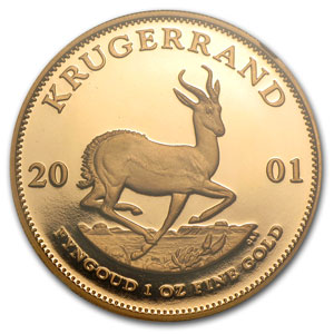 2001 South Africa 1 oz Gold Krugerrand PF-68 NGC
