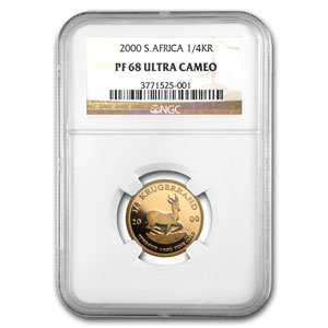 2000 South Africa 1/4 oz Gold Krugerrand PF-68 NGC