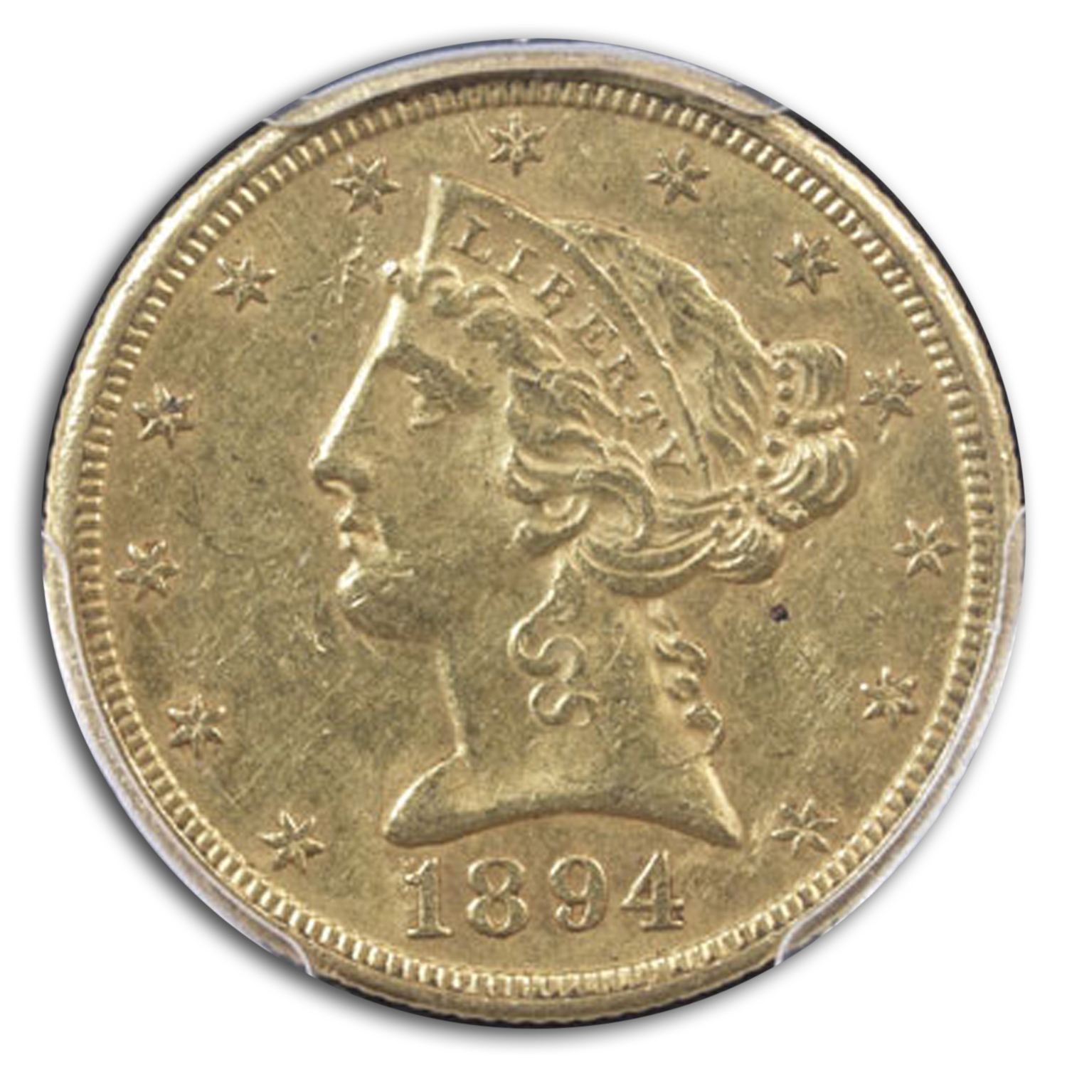 1894-O $5 Liberty Gold Half Eagle AU-58 PCGS