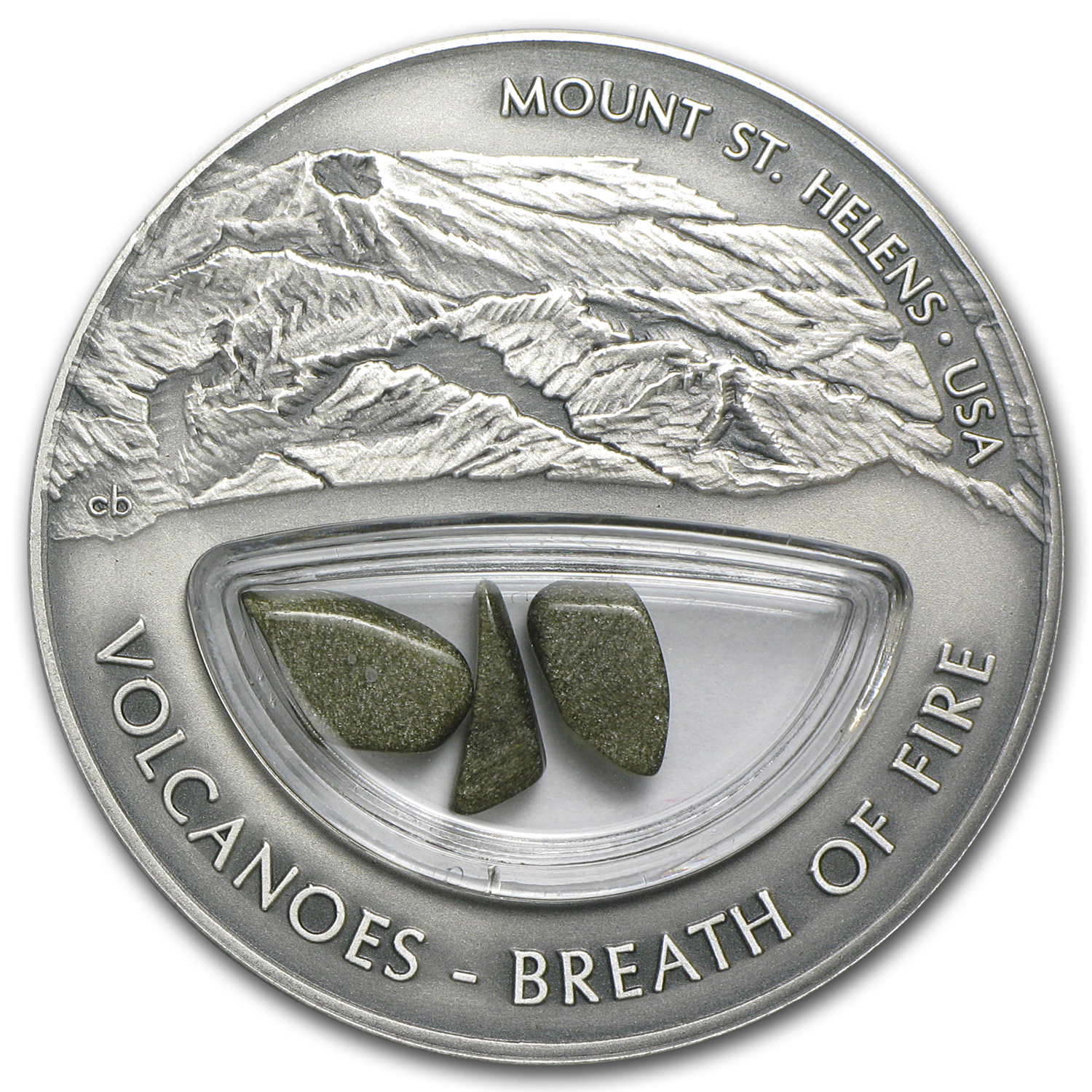 2013 Fiji Silver $10 Volcanoes Breath of Fire Mt. St. Helens