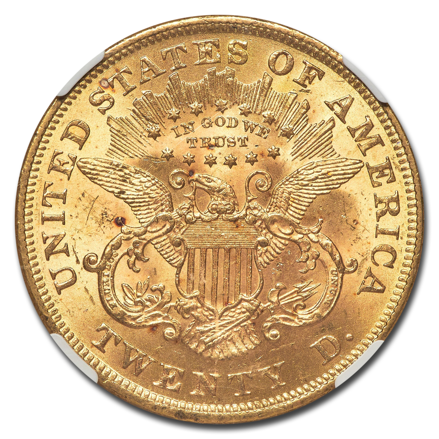 1875 $20 Liberty Gold Double Eagle MS-61 NGC